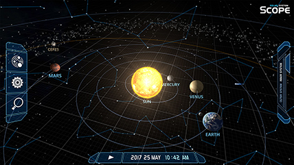 solar system scope online model of solar system and